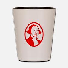 Red George Washington Portrait Shot Glass