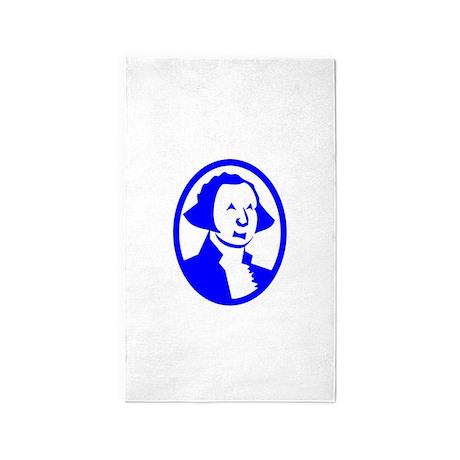 Blue George Washington Portrait 3'x5' Area Rug