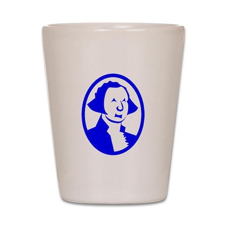 Blue George Washington Portrait Shot Glass