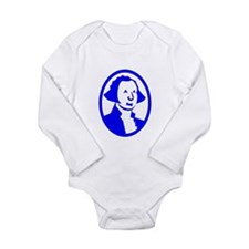 Blue George Washington Portrait Body Suit