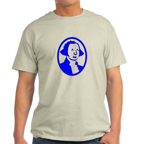 Blue George Washington Portrait T-Shirt
