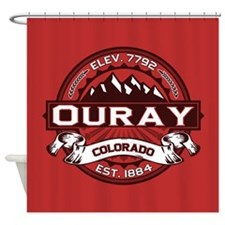 Ouray Red Shower Curtain