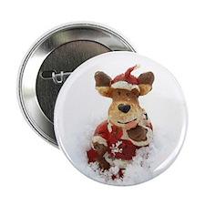 "Santa Reindeer 2.25"" Button"
