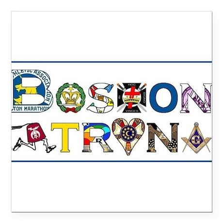 """boston Square Car Magnet 3"""" x 3"""""""