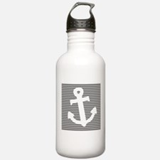 'Gray Anchor' Sports Water Bottle