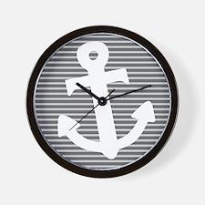 'Gray Anchor' Wall Clock