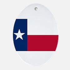 Texas Flag Ornament (Oval)