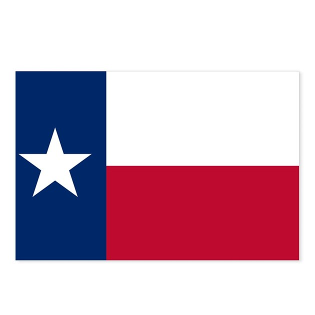 Texas Flag Postcards (Package Of 8) By NationalVintage