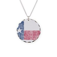 Distressed Texas Flag Necklace