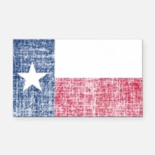 Distressed Texas Flag Rectangle Car Magnet