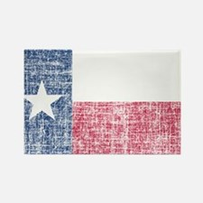 Distressed Texas Flag Rectangle Magnet