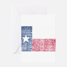 Distressed Texas Flag Greeting Card