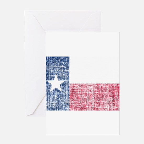 Distressed Texas Flag Greeting Card