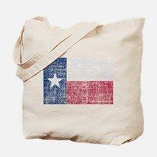 Distressed Texas Flag Tote Bag