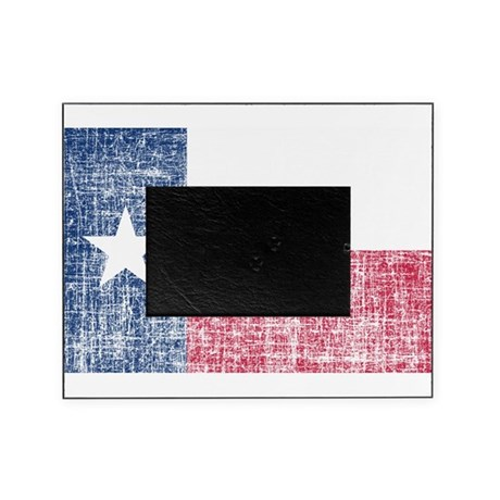 Distressed Texas Flag Picture Frame