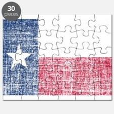 Distressed Texas Flag Puzzle