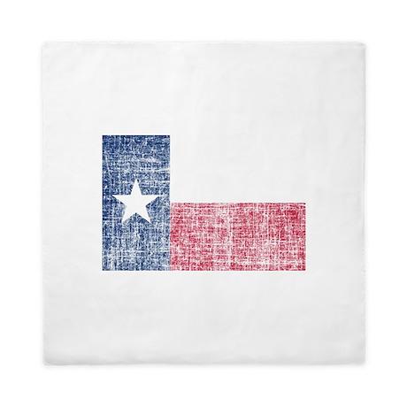 Distressed Texas Flag Queen Duvet