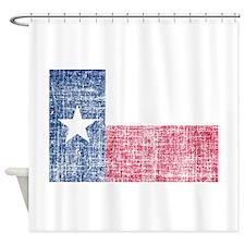 Distressed Texas Flag Shower Curtain