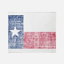 Distressed Texas Flag Throw Blanket