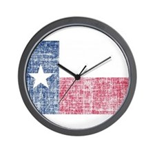 Distressed Texas Flag Wall Clock