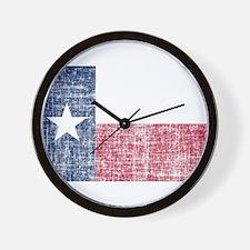Distressed Texas Flag Wall Clock