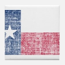 Distressed Texas Flag Tile Coaster