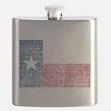 Distressed Texas Flag Flask