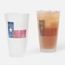 Distressed Texas Flag Drinking Glass