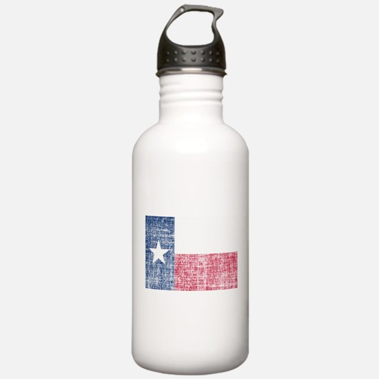 Distressed Texas Flag Water Bottle