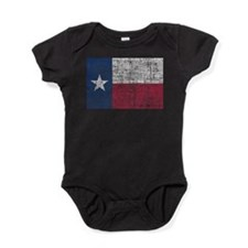 Distressed Texas Flag Baby Bodysuit