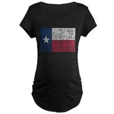 Distressed Texas Flag Maternity T-Shirt