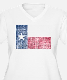 Distressed Texas Flag Plus Size T-Shirt