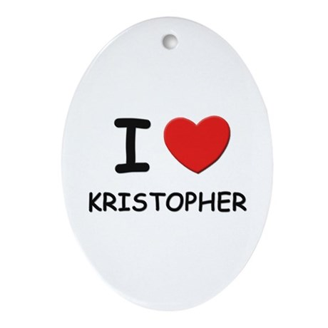 I love Kristopher Oval Ornament