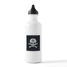 Skull Crossbones (brick wall) Water Bottle