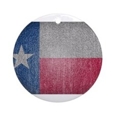 Texas Flag Faded Ornament (Round)