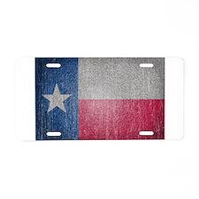 Texas Flag Faded Aluminum License Plate