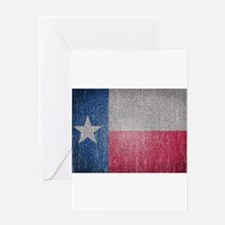 Texas Flag Faded Greeting Card
