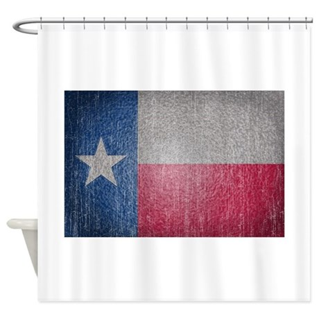 Texas Flag Faded Shower Curtain By Nationalvintage
