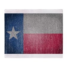 Texas Flag Faded Throw Blanket
