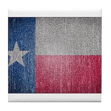 Texas Flag Faded Tile Coaster