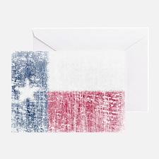Beaten Texas Flag Greeting Card