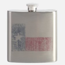 Beaten Texas Flag Flask
