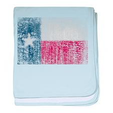 Beaten Texas Flag baby blanket