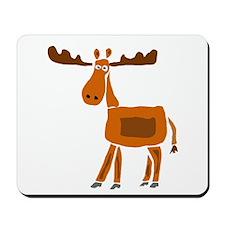 Primitive Art Moose Mousepad
