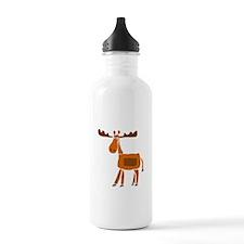 Primitive Art Moose Water Bottle