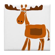 Primitive Art Moose Tile Coaster