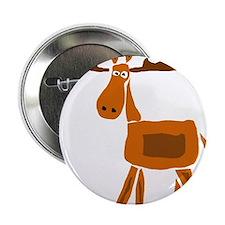 """Primitive Art Moose 2.25"""" Button"""