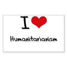 I Love Humanitarianism Decal
