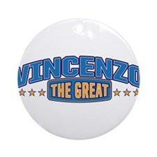 The Great Vincenzo Ornament (Round)