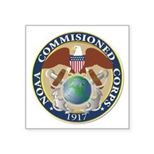 """NOAA - Commissioned Corps Square Sticker 3"""" x 3"""""""